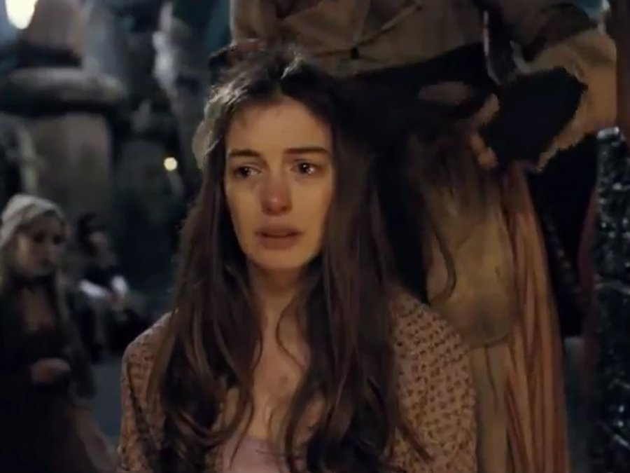 Anne Hathaway as Fantine in Les Mis