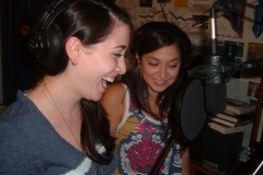 Natalie West (Jamie) and Dana Gitlin (Remy) in Recording Studio