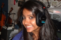 Shoba Narayan (Dance Club Soloist) in Recording Studio